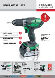 Hitachinytt nr 1 2012 del 1.indd - Hitachi Power Tools Finland Oy