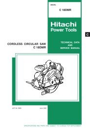 CORDLESS CIRCULAR SAW Model C 18DMR - Hitachi