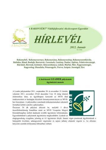 Letölthető... - Bakonyért Vidékfejlesztési Egyesület