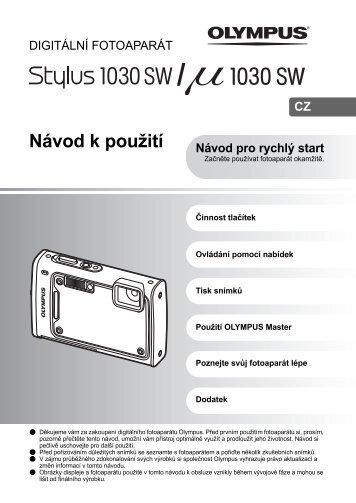 Olympus MJU 1030 SW - manual CZ