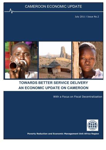 cameroon economic update towards better ... - World Bank Blogs