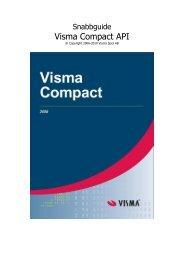Visma Compact API - Visma Spcs AB