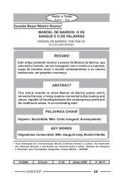 MANOEL DE BARROS: O DE SANGUE E O DE PALAVRAS