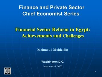 Finance And Private Sector Chief Economist ... - World Bank Blogs