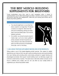The Best Muscle-Building Supplements For Beginners