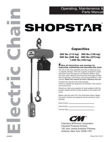 Cm Shopstar Hoist Wiring Diagram - Somurich.com on