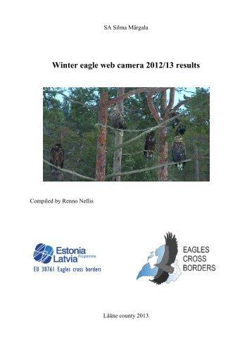 Winter eagle web camera 2012/13 results
