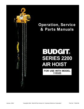 SERIES 2200 AIR HOIST - Hoists Direct