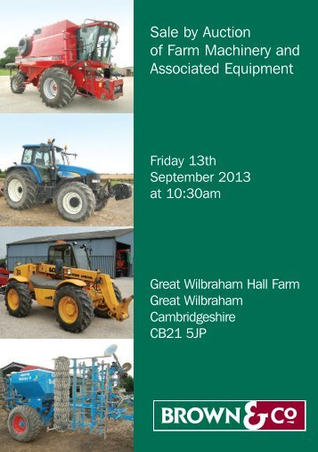 Sale by Auction of Farm Machinery and Associated ... - JUPIX Auctions