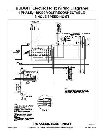 wright electric chain hoist wiring diagram nitchi electric chain hoist wiring diagram