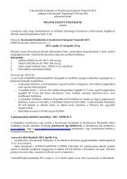A Kecskeméti Kulturális és Konferencia Központ Nonprofit KFT ...