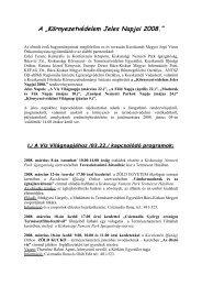 """A """"Környezetvédelem Jeles Napjai 2008 - Kecskeméti Kulturális és ..."""