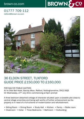 36 eldon street, tuxford guide price £150000 to ... - JUPIX Auctions