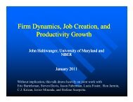 Firm Dynamics, Job Creation, and Productivity ... - World Bank Blogs