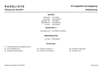 Rangliste Herbstpruefung 2010.pdf - KV-Langenthal
