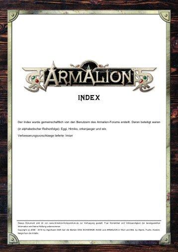 Der Index wurde gemeinschaftlich von den Benutzern des Armalion ...