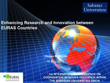 Enhancing Research and Innovation between EURAS Countries
