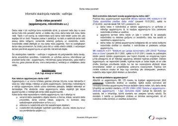 DARBA VIETAS PARAMETRI - Valsts Darba Inspekcija