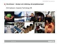 Gruvhissar – Analys och mätning, ett projektexempel Erik ... - Inspecta
