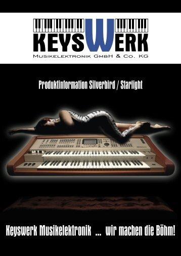 Produktinformation Silverbird / Starlight - Böhm Orgeln
