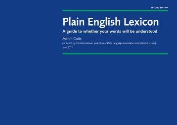 Plain English Lexicon - Amazon S3