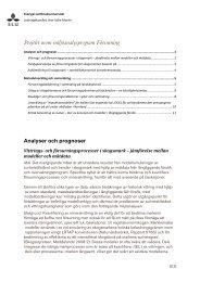 Projekt inom miljöanalysprogram Försurning - SLU