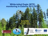 White-tailed Eagle (WTE) monitoring in Estonia 2012-2013