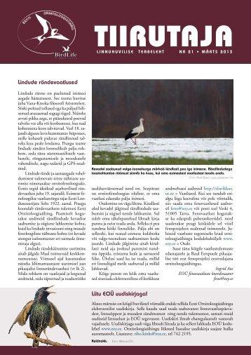 Loe Tiirutajat siit. - Eesti ornitoloogiaühing