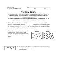 Practicing Density - Arapahoe High School
