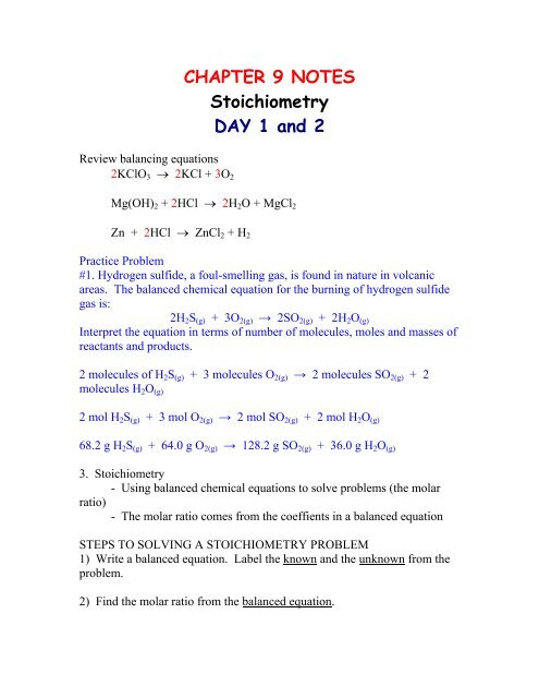 4 Chemical Equations And Stoichiometry Worksheet Answers ...
