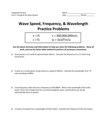 wave speed worksheet free worksheets library download and print worksheets free on comprar. Black Bedroom Furniture Sets. Home Design Ideas