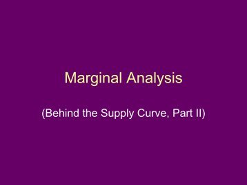 Marginal Analysis - Arapahoe High School
