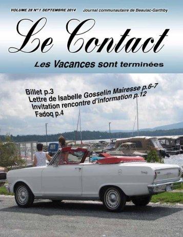 Le Journal Contact Vol. 28 No. 1