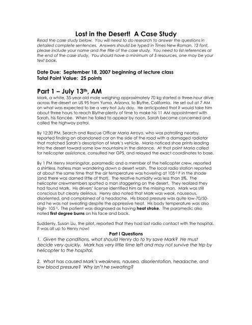 Lost in Desert case study 07 - Arapahoe High School