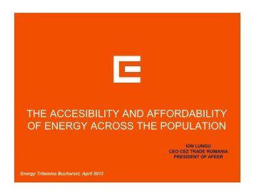 THE ACCESIBILITY AND AFFORDABILITY OF ENERGY ... - Cnr -cme