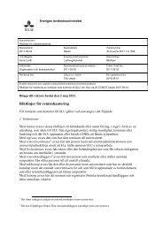 Riktlinjer för remisshantering - SLU