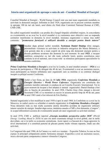 Consiliul Mondial al Energiei - Cnr -cme