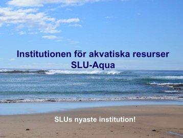 Övervakning och analys - SLU