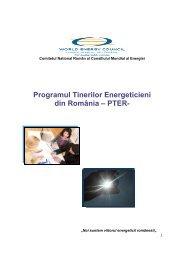 Programul Tinerilor Energeticieni din România – PTER- - Cnr -cme