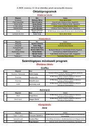 Oktatóprogramok Számítógépes művészeti program