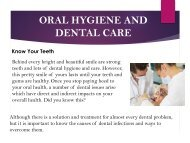 Know Your Teeth - Oral Hygiene and Dental Care.