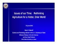Issues of Our Time: Rethinking Agriculture in a Hotter, Drier ...