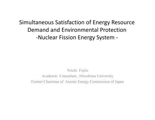Simultaneous Satisfaction of Energy Resource Simultaneous ...