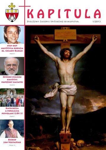 kapitula 1/2013 - Spišská diecéza