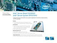 Intel Server Board S5500HV Product Brief