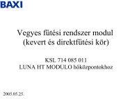 Vegyes fűtési rendszer modul (kevert és direktfűtési kör)