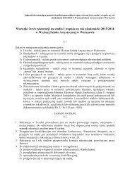 Rekrutacja na rok akademicki 2013-2014 WSA