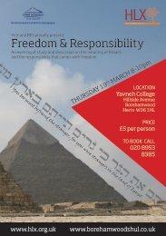 Freedom & Responsibility - Borehamwood and Elstree Synagogue