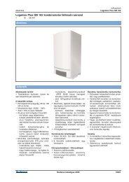 Logamax Plus GB 162 kondenzációs falikazán sorozat