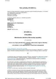 Vyhláška MŠ SR č. 291/2004, ktorou sa určujú ... - Školský úrad